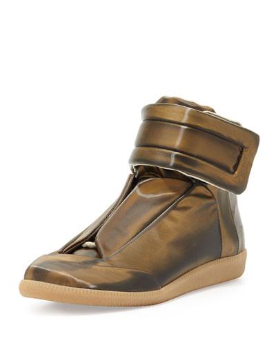 maison margiela future high top sneaker gold. Black Bedroom Furniture Sets. Home Design Ideas