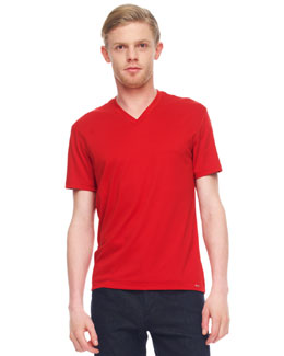 MICHAEL KORS  Cotton V-Neck Tee