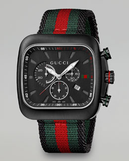 Gucci Coupe XL Chronograph Watch, Black