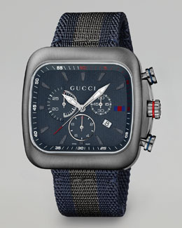 Gucci Coupe XL Chronograph Watch, Gray