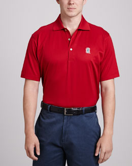 Peter Millar Stanford Gameday Polo, Crimson