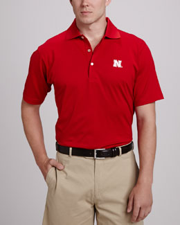 Peter Millar Nebraska Gameday Polo, Red