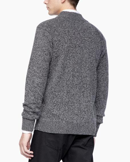 Zip Sweater, Charcoal Multi