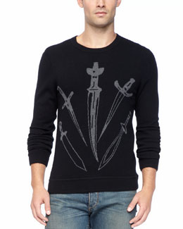 Rag & Bone Big Dagger Crew Sweater