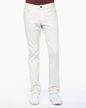 Stretch-Cotton 5-Pocket Pants, Laide
