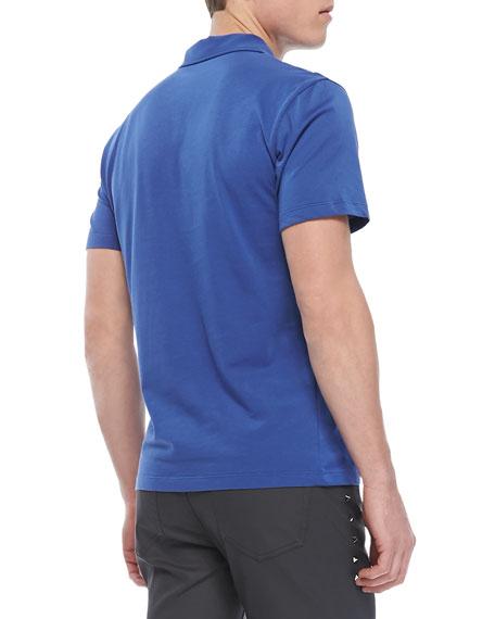 Cotton-Jersey Polo, Blue