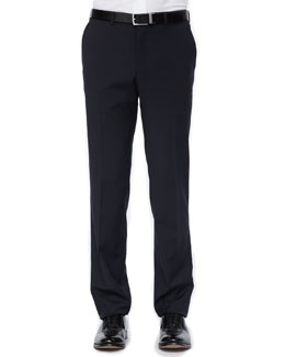 Versace Collection Side-Stripe Tuxedo Trousers, Black