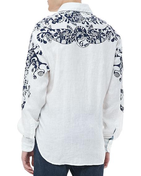 Savanna Frame Print Shirt, White