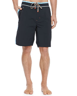 Robert Graham Decker Board Shorts, Black