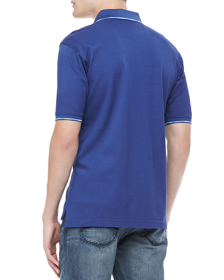 McEnroe Short-Sleeve Polo, Navy