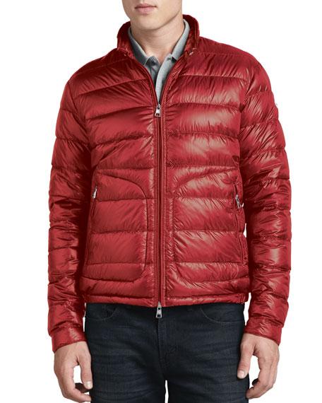 moncler acorus lightweight puffer jacket red. Black Bedroom Furniture Sets. Home Design Ideas