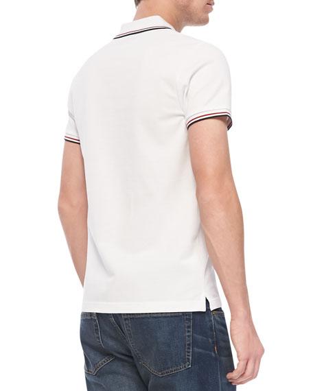 Tipped Logo Polo, White