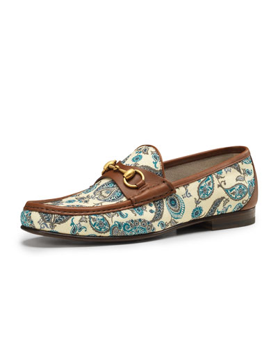 Gucci Roos 1953 Paisley Loafer, Blue