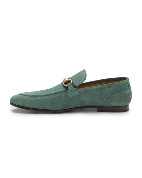 Elanor Suede Horsebit Loafer, Green