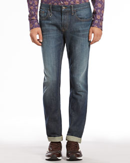 Gucci Stone Washed Skinny Jeans, Blue