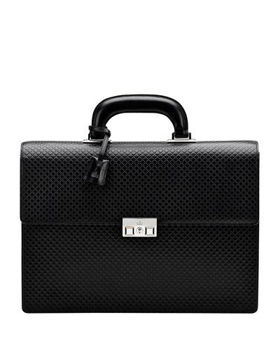 Gucci Men's Diamante Double-Gusset Briefcase, Black