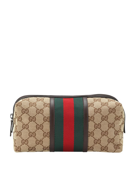 . Gucci GG Canvas Toiletry Bag  Beige