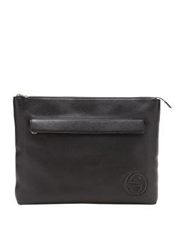 Gucci Soho Large Portfolio Case, Black