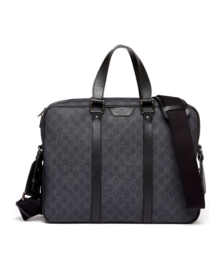 GG Supreme Canvas Briefcase, Black