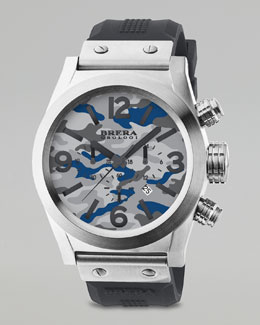 Brera Camouflage Dial Chronograph Watch, Gray