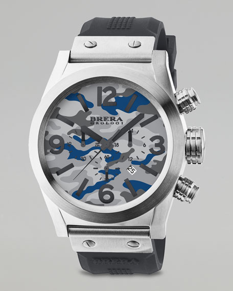 Camouflage Dial Chronograph Watch, Gray