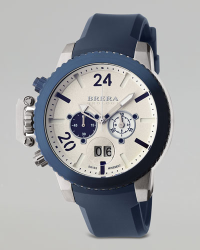 Brera Militare II Chronograph Watch, Blue