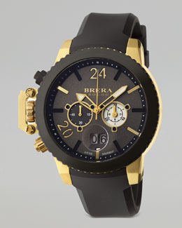 Brera Militare II Chronograph Watch, Gold/Black