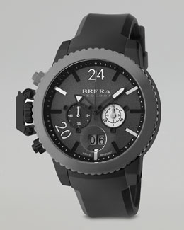 Brera Militare II Chronograph Watch, Black/Gray