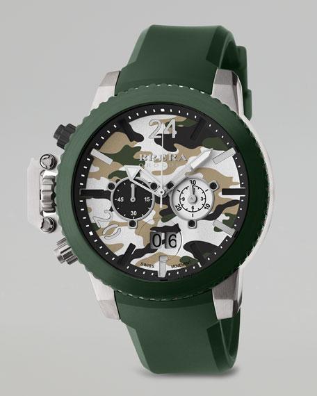 Militare II Chronograph Watch, Green Camo