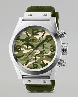 Brera Stainless Steel Chronograph Watch, Camouflage