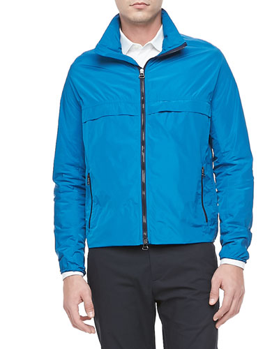 Tech Zip-Front Jacket, Turquoise