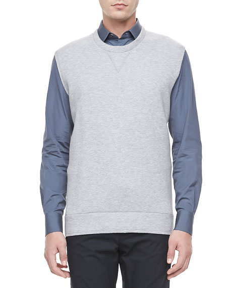 Sleeveless Jersey Pullover, Gray