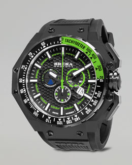 Brera Gran Turismo Black IP Watch, Green