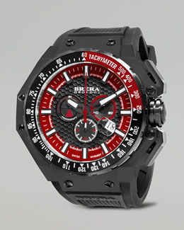 Brera Gran Turismo Black IP Watch, Red