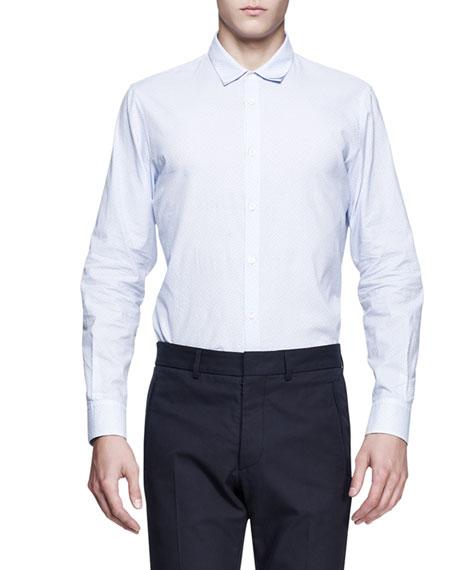 Double-Collar Dress Shirt, Light Blue