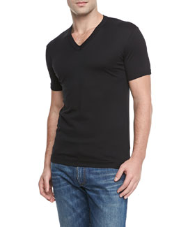 Dolce & Gabbana Basic V-Neck T-Shirt, Black
