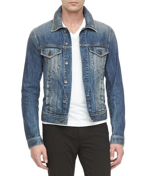 4-Pocket Jean Jacket, Blue