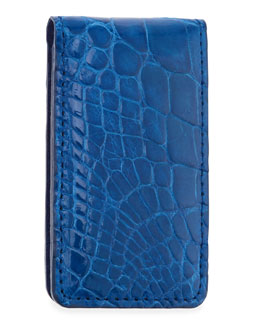 Neiman Marcus Alligator Money Clip, Royal Blue