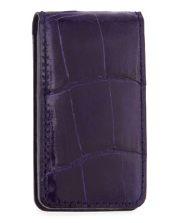Neiman Marcus Alligator Money Clip, Purple