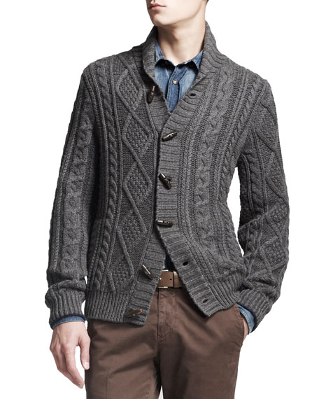 Cashmere Cable-Knit Cardigan