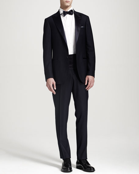 Two-Button Peak-Lapel Tuxedo, Midnight