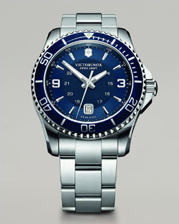 Victorinox Swiss Army Maverick Stainless Steel Watch, Blue