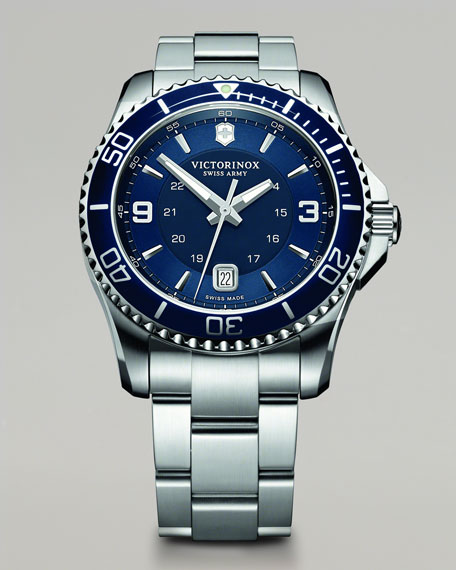 Maverick Stainless Steel Watch, Blue
