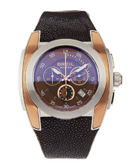Breil Mediterraneo Chronograph Watch, Rose/Brown