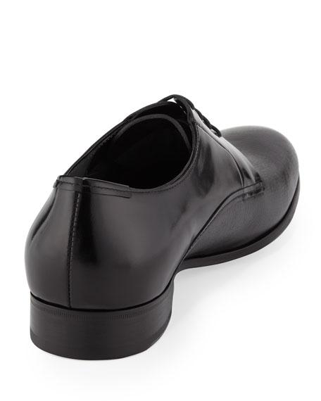 Multi-Leather Lace-Up, Black