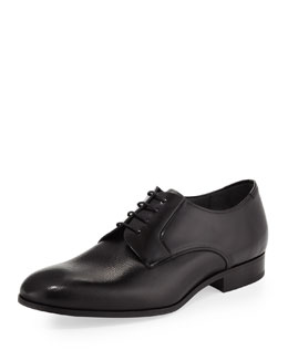 Lanvin Multi-Leather Lace-Up, Black