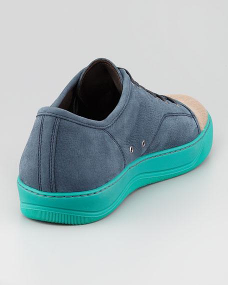 Calf Hair Cap-Toe Colorblock Sneaker