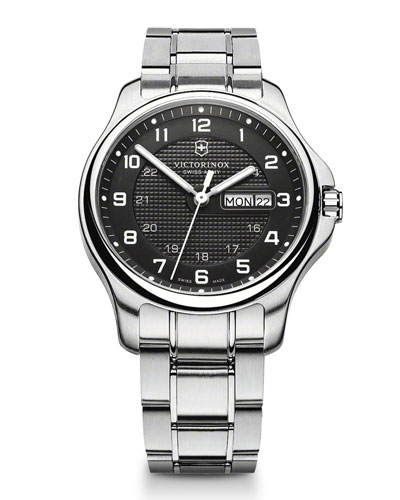 Victorinox Swiss Army Officer's Day Stainless Steel Watch