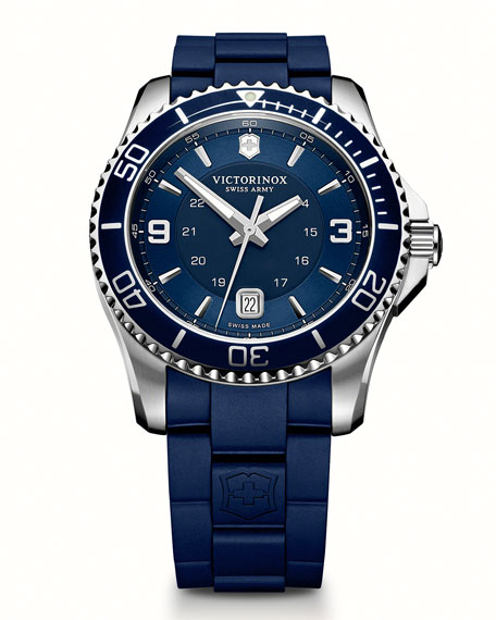 Maverick GS Rubber-Strap Watch, Blue