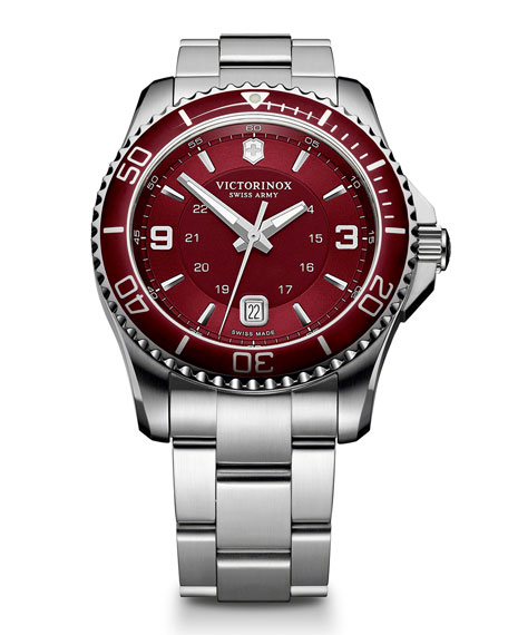 MAVERICK RED DIAL, BRACELET